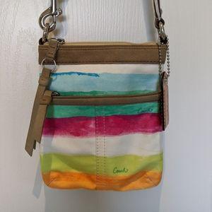 COACH Hampton Stripe Crossbody bag